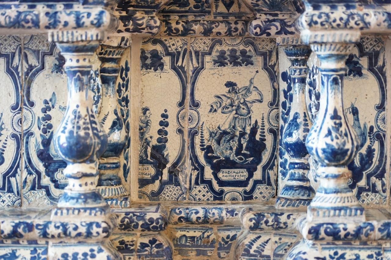 detail ceramique russe