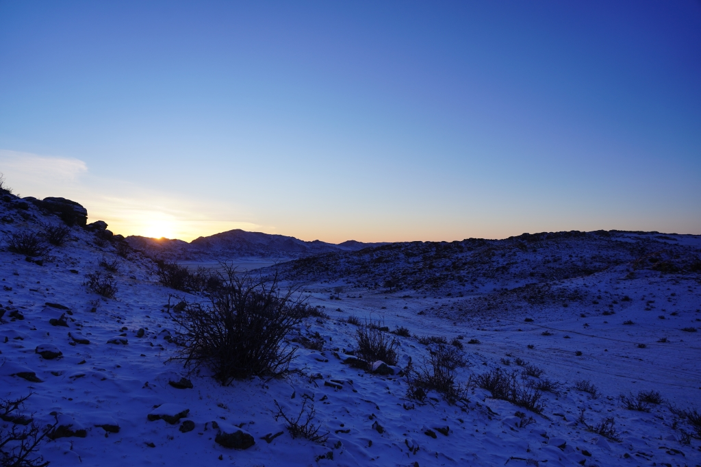 mongolie gobi soleil couchant